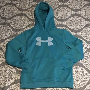 ⭐️ Under Armour teal hoodie sz Small